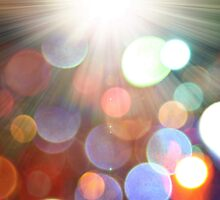 abstract bokeh background and sun-rays by alinbrotea