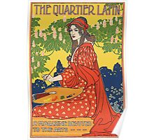 Poster 1890s The Quartier Latin a magazine devoted to the arts advertising poster ca 1895 USSR Poster