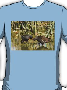 the sweetness and love of a pair of moorhens T-Shirt