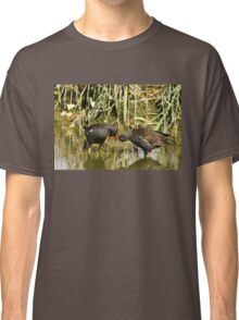the sweetness and love of a pair of moorhens Classic T-Shirt