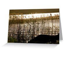 Golden textures Greeting Card