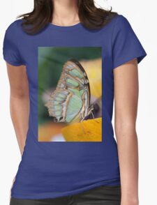 butterffly on fruit Womens Fitted T-Shirt
