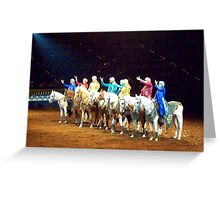 Arabian Line-up Greeting Card