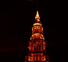 Moon Over Cleveland  by Robert  Buehner