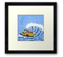 Splitty Wave 02 Painting Framed Print