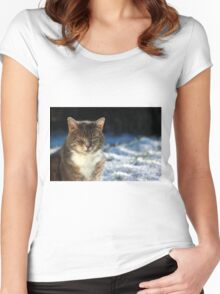 Winter cat Women's Fitted Scoop T-Shirt