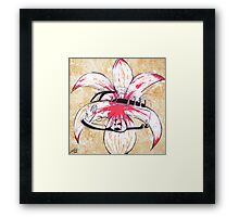 Splitty Flower Framed Print