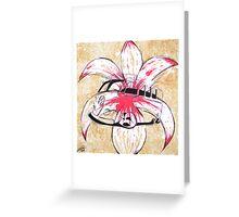 Splitty Flower Greeting Card