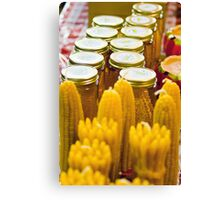 Canned Corn Canvas Print