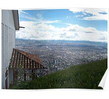Sky, hill, city & land Poster