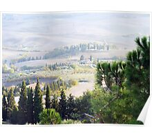 Tuscan Landscape Two Poster