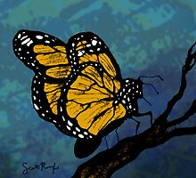 Monarch Butterfly on a Twig by SRolfe