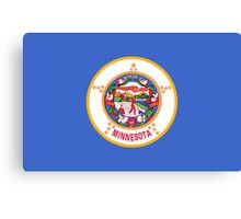 State Flags of the United States of America -  Minnesota Canvas Print