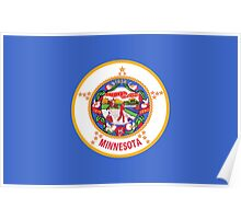 State Flags of the United States of America -  Minnesota Poster