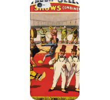 Poster 1890s Twenty funny feltcrowned fools poster for Forepaugh & Sells Brothers 1899 USSR iPhone Case/Skin