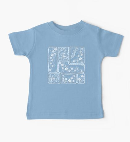 Blue and white flowers Baby Tee