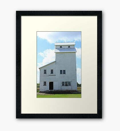 Country Elevator on the Prairies Framed Print