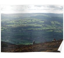A View of Wales- from Moel Famau Poster