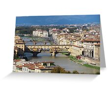 Firenze view  Greeting Card