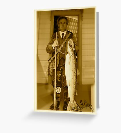 The aristocratic art of fly fishing by Lord Adalbert Brown Sugar. F**** Views (1141). Favs (5). :-))  with Yeah !!!  Thank you Friends !!! Greeting Card