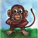Shizaru the fourth wise monkey by Chris Harrendence