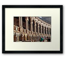 Fifty-Eight Benches Framed Print