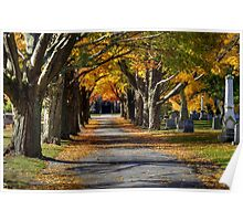 Autumn Path to the Chapel Poster