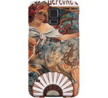 Poster 1890s Alfons Mucha 1896 Biscuits LefèvreUtile USSR Samsung Galaxy Case/Skin