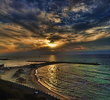 Tel Aviv hypnotizing sunset by Ronsho