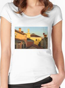 Impressions of Venice - Choose a Hotel With a Roof Terrace  Women's Fitted Scoop T-Shirt