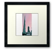 Grey and Pink Burj Khalifa Framed Print