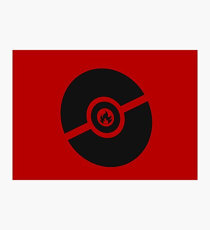 Pokemon Pokeball Fire  Photographic Print