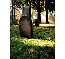 1700's Revolutionary War Graveyard Photographic Print