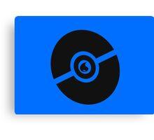 Pokemon Pokeball Water  Canvas Print