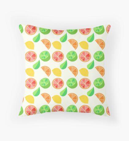 Citrus Pattern Throw Pillow