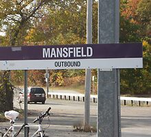 MBTA Commuter Rail Station's Mansfield sign (OUTBOUND) by Eric Sanford