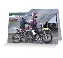 stunt bikers Greeting Card