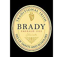 Irish Names Brady Photographic Print