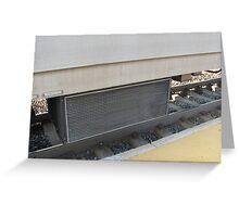 MBTA Commuter Rail's Heater/Air conditioner vent Greeting Card