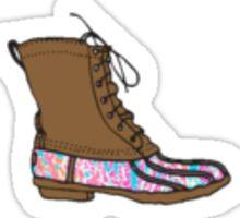 lilly pulitzer bean boots Sticker