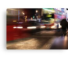 Evening Rush at Piccadilly Circus, London Canvas Print