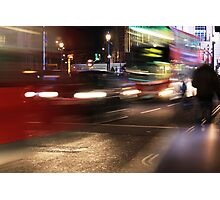 Evening Rush at Piccadilly Circus, London Photographic Print