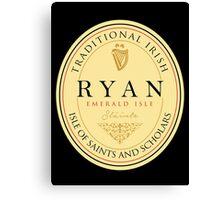 Irish Names Ryan Canvas Print