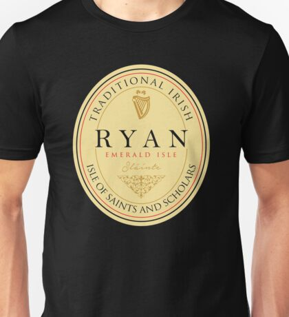 Irish Names Ryan Unisex T-Shirt