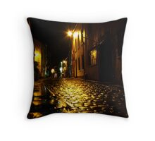 A night in Staithes Throw Pillow