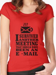 I survived another meeting geek funny nerd Women's Fitted Scoop T-Shirt