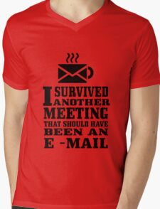 I survived another meeting geek funny nerd Mens V-Neck T-Shirt