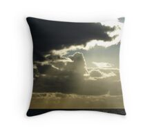 Clouds Blocking Lights Rays - Glenelg Beach Throw Pillow