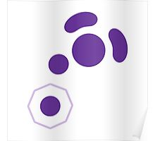 Gamecube Controller Button Symbol - Purple Poster