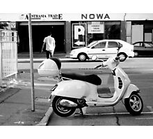 Easy Parking - Black and White - Adelaide Photographic Print